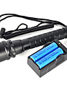 2 LED Flashlights/Torch Diving Flashlights/Torch LED 6000 Lumens 2 Mode Cree XM-L2 Yes Impact Resistant Rechargeable Waterproof Strike