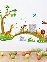 Animals Cartoon Still Life Wall Stickers Plane Wall Stickers Decorative Wall Stickers,Vinyl Material Removable Home Decoration Wall Decal