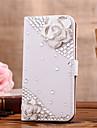 Para Samsung Galaxy Capinhas Porta-Cartao / Com Strass / Flip Capinha Corpo Inteiro Capinha Flor Couro PU SamsungS7 edge / S7 / S6 edge