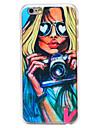 sexy girl padrao de camera pc transparente Capa para iPhone 6 mais