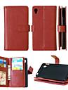 pu couro + TPU tampa traseira carteira titulares de cartão tanto ranhura + dinheiro + moldura caso de telefone magnética para Sony Xperia