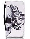 The New Skull Lanyard PU Leather Material Flip Card Cell Phone for iPod Touch 5/6