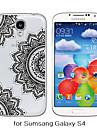 Для Кейс для  Samsung Galaxy Прозрачный / С узором Кейс для Задняя крышка Кейс для Мандала TPU Samsung S6 / S5 / S4