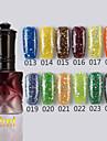 1PCS Sequins UV Color Gel Nail Polish No13-24Soak-off(12ml,Assorted Colors)