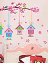 Paisagem Natal Floral Feriado Adesivos de Parede Autocolantes de Avioes para Parede Autocolantes de Parede Decorativos Autocolantes de