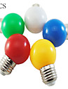 5pcs 1W E26/E27 LED Globe Bulbs 100LM Red/Blue/Green/Yellow/White Color Decorative AC220-240V