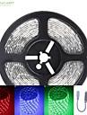 SENCART 6m RGB 스트립 조명 300 LED RGB 리모콘 컷테이블 밝기조절가능 방수 색상-변화 접착성이 있는 자동차에 적합 연결가능 12V