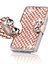 Luxury Bling Crystal & Diamond Leather Flip Bag For iPhone 6/6S (Assorted Colors)