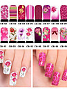 20pcs Water Transfer Sticker 3D Nail Stickers Nail Stamping Template Daily Flower Fashion High Quality