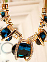 Feminino Colar de Fios Cristal Cristal Strass imitacao de diamante Liga Moda Joias de Luxo Verde Azul Joias Para Festa Diario 1peca