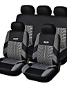 5 Seats Universal Car Seat Cover Black/Gray Textile Material Vehicle Seat Coler (9 pcs per kit)