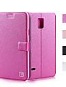 Case Kompatibilitás Samsung Galaxy Samsung Galaxy Note Kártyatartó Állvánnyal Flip Héjtok Tömör szín PU bőr mert Note 5 Note 4 Note 3