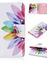 Кейс для Назначение Другое Nokia Кейс для Nokia Бумажник для карт Кошелек со стендом Чехол Цветы Твердый Кожа PU для