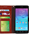 Genuine Nubuck Cowhide PU Leather Flip Cover Wallet Card Slot Case with Stand for Samsung galaxy Note 4(Assorted Colors)