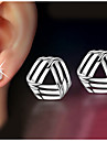 Women\'s Stud Earrings Pearl Alloy Triangle Geometric Jewelry