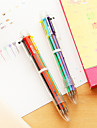 Pen Pen Ballpoint Pens Pen, Plastic Red Black Blue Yellow Gold Green Ink Colors For School Supplies Office Supplies Pack of