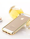 Case For iPhone 5 iPhone 5 Case Rhinestone Bumper Solid Colored Hard Metal for iPhone SE / 5s / iPhone 5