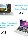 "Ultra Thin TPU Keyboard Cover + Metal Rest Protective Film and Touch Panel Membrane for 13.3""/15.4"" MacBook Pro Retina"