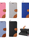 For Samsung Galaxy S7 Edge Wallet / Card Holder / with Stand / Flip Case Full Body Case Solid Color PU Leather SamsungS7 edge / S7 / S6