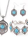 Pentru femei Turcoaz Set bijuterii - Reșină, Turcoaz Lux, European Include Pentru Petrecere Zi de Naștere Logodnă / Σκουλαρίκια / Coliere / Brățară