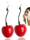 Women\'s Drop Earrings - Resin Dark Red For Daily / Casual