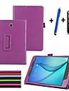 Capinha Para Samsung Galaxy A Tab 8.0 Com Suporte Flip Capa Protecao Completa Cor Solida Rigida PU Leather para