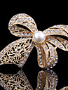 Women\'s Cute Butterfly Pearl / Crystal / Cubic Zirconia - Work / Casual / Cute Style Animal Gold Brooch For Wedding / Party / Special