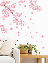 Wall Stickers Wall Decals Style Pink Cherry Blossom Tree Waterproof Removable PVC Wall Stickers