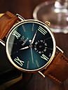 رجالي ساعة المعصم كوارتز بني 30 m مماثل أسود أزرق البحرية / ستانلس ستيل