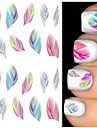 2 Sheets Fashion Nail Decals Water Transfer Stickers Nail Art Tips Feather Wraps DIY Decorations Nail Art Tools
