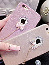 Capinha Para Apple iPhone X iPhone 8 Capinha iPhone 5 iPhone 6 iPhone 6 Plus iPhone 7 Plus iPhone 7 Com Strass Capa traseira Glitter