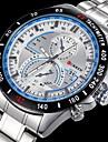 Мужской Наручные часы Кварцевый Японский кварц Календарь Защита от влаги Нержавеющая сталь Группа Серебристый металл марка CURREN