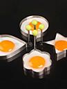 4шт / серия четырех стилей из нержавеющей стали яйца устройство омлета прессформы инструменты