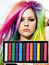 12 crayons de couleur de craie temporaires pour cheveux non-toxiques pastels de teintures capillaires collent les outils de coiffage diy