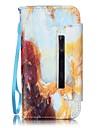 용 아이폰5케이스 지갑 / 카드 홀더 / 스탠드 케이스 풀 바디 케이스 풍경 하드 인조 가죽 Apple iPhone SE/5s/5