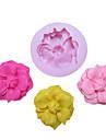 Um Buraco Flor Com Bud Silicone Mold flores Ferramentas Fondant Moldes Sugar Craft Resina Mould moldes para bolos