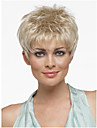 Synthetic Wig Straight Pixie Cut With Bangs With Bangs Blonde Women\'s Capless Natural Wigs Short Synthetic Hair