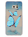 For Samsung Galaxy S7 Edge Ultra-thin / Embossed Case Back Cover Case Butterfly TPU SamsungS7 plus / S7 Active / S7 edge plus / S7 edge /