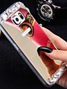 Para Samsung Galaxy Capinhas Com Strass / Espelho Capinha Capa Traseira Capinha Brilho com Glitter TPU Samsung S7 edge / S7 / S6 edge plus