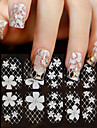 1 pcs Flower / Fashion Lace Sticker / 3D Nail Stickers Daily / PVC(PolyVinyl Chloride)