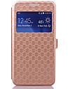 케이스 제품 Samsung Galaxy 삼성 갤럭시 케이스 카드 홀더 스탠드 윈도우 플립 전체 바디 케이스 기하학 패턴 PU 가죽 용 Grand Prime