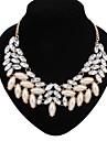 Women\'s Fashion Statement Jewelry Cute Style European Choker Necklace Pearl Necklace Statement Necklace Pearl Alloy Choker Necklace Pearl