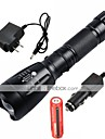 LED Flashlights/Torch Handheld Flashlights/Torch LED 2200/1000 Lumens 5 Mode Cree XM-L T6 1 x 18650 Battery Adjustable Focus Rechargeable