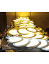 LED Panel Lights 30pcs SMD 2835 500-550lm Warm White Cold White Natural White 2800-6500K Decorative AC 85-265V