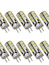 10pcs 2 W 200 lm G4 LED Bi-pin Lights T 24 LED Beads SMD 2835 Decorative Warm White / Cold White 12 V / 10 pcs / RoHS