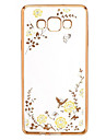 Case For Samsung Galaxy Samsung Galaxy Case Rhinestone Plating Transparent Pattern Back Cover Flower TPU for A9 A8 A7 A5