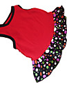 Dog Dress Dog Clothes Polka Dot Heart Black / Red Cotton Costume For Pets Summer Women\'s Fashion