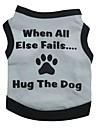 Кошка Собака Футболка Одежда для собак Цветочные / ботанический Серый Зеленый Синий Розовый Хлопок Костюм Для домашних животных Муж. Жен.