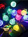 Cordoes de Luzes AC100-240 6m 30 leds Branco Quente Branco RGB Azul Roxo