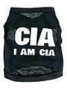 Chat Chien Tee-shirt Noir Vetements pour Chien Ete Printemps/Automne Police/Militaire Mignon Decontracte / Quotidien